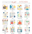 infographics mini concept kitchen tools icons vector image vector image