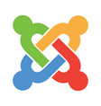 joomla emblem vector image vector image