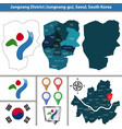jungnang district seoul city south korea vector image