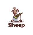 logo sheep mascot cartoon style vector image