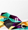 Low poly polygonal triangle abstract background