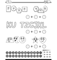 maths activity for coloring vector image vector image