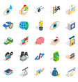 medical training icons set isometric style vector image vector image