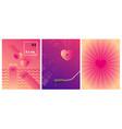 minimal velentines day card design pink halftone vector image