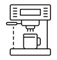 modern coffee machine icon outline style vector image vector image