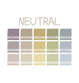 Neutral Color Tone vector image vector image