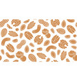 nut seamless pattern with flat silhouette icons vector image vector image