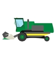 Obsolete green harvester vector image vector image