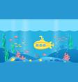 paper cut submarine underwater ocean landscape vector image vector image
