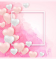 pink watercolor valentine background vector image vector image