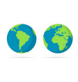 planet earth icon flat earth icon vector image