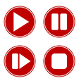 Play pause stop forward buttons set vector image