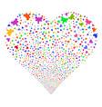 plugin fireworks heart vector image vector image