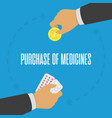 purchase medicines concept vector image vector image