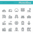 rail transport icons vector image vector image