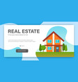 real estate concept web page design template vector image