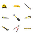 realistic wrench hacksaw forceps and other vector image vector image