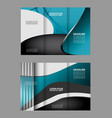 red and black tri-fold brochure design temp vector image vector image