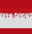 red dripping slime seamless element vector image vector image