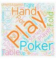 Rocks at the Poker Table text background wordcloud vector image vector image