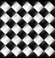 seamless abstract monochrome diagonal square vector image vector image