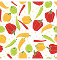 seamless pattern background peppers paprika vector image vector image
