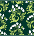 seamless pattern decorative lilies vector image vector image