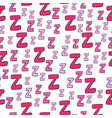 seamless pattern with cartoon letters z vector image vector image