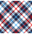 Seamless tartan plaid pattern in blue red and vector image vector image