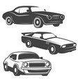 set cars icons isolated on white background vector image