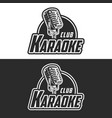 shiny karaoke club label design vector image