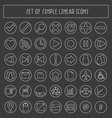 simple linear icons vector image vector image