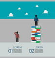 smart people standing on a lot books and vector image vector image