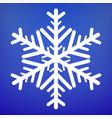 snowflake icon christmas and winter theme vector image vector image