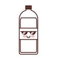 soda bottle kawaii character vector image vector image