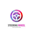 steering wheel logo for business company simple vector image vector image