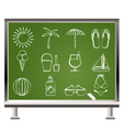 summer and beach objects vector image vector image