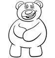 teddy bear cartoon character coloring book vector image