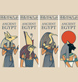 travel banners with gods ancient egypt vector image