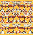 tribal geometric pattern with grunge effect vector image vector image