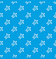 turtle pattern seamless blue vector image vector image