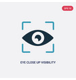 two color eye close up visibility button icon vector image vector image