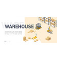 warehouse service site isometric template vector image vector image