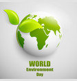 world environment day label or banner with vector image