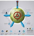 Worldwide Water Pipeline Ecology And Environment vector image vector image