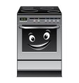Fun modern stove kitchen appliance vector image