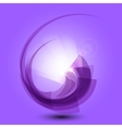 Abstract purple background with light vector image
