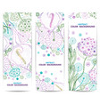 Set of vertical floral banners or backgrounds with vector image