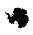 silhouette map af antarctica high detailed black vector image