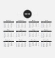 2020 year calendar horizontal design vector image